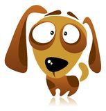 Cartoon dog. On a white background Royalty Free Stock Photography