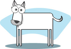 Cartoon Dog. In Black and White Royalty Free Stock Images