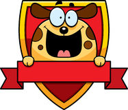 Cartoon Dog Badge Stock Photos
