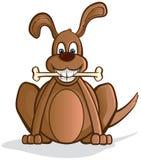 Cartoon dog with a bone Stock Photos