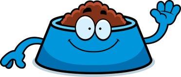 Cartoon Dog Bowl Waving Royalty Free Stock Photography