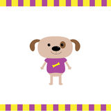 Cartoon dog boy card Royalty Free Stock Photo