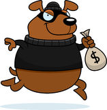 Cartoon Dog Burglar Royalty Free Stock Photography