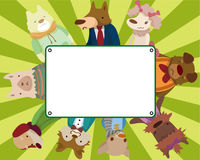 Cartoon dog card Stock Image