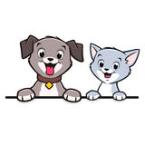 Cartoon Dog Cat Animal Frame  Border. Cartoon dog cat for frame border element Royalty Free Stock Image