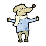 Cartoon dog in clothes Royalty Free Stock Images