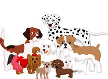 Cartoon dog collection Stock Photography