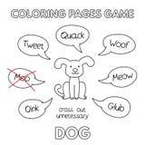 Cartoon Dog Coloring Book Stock Images