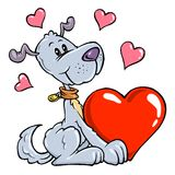 Cartoon Dog Coloring Version. Cartoon Dog color illustration for lovers Stock Photo