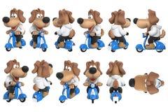 Cartoon dog cute character set Royalty Free Stock Photo