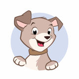 Cartoon Dog. Cute cartoon dog vector illustration for design element Royalty Free Stock Images