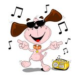 Cartoon dog dancing Stock Photo