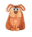 Cartoon dog drawn by hand. Royalty Free Stock Photos