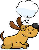 Cartoon Dog Dreaming Stock Images