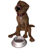 Cartoon Dog - Feed Me Stock Photography