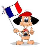 Cartoon Dog from France Royalty Free Stock Image