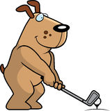 Cartoon Dog Golfing Stock Photos