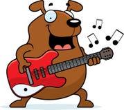 Cartoon Dog Guitar Royalty Free Stock Images
