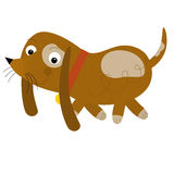 The cartoon dog Royalty Free Stock Images
