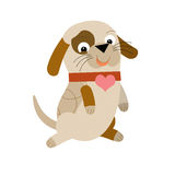 The cartoon dog. Happy and colorful illustration for the children Royalty Free Stock Photography