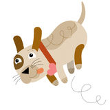 The cartoon dog Stock Images