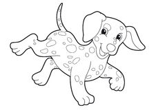 The cartoon dog. Happy illustration for the children Royalty Free Stock Photography