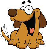 Cartoon Dog Happy Tail Wagging Stock Images