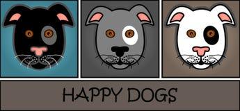 Cartoon dog header Royalty Free Stock Image