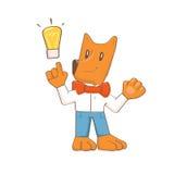 Cartoon dog idea Royalty Free Stock Photography