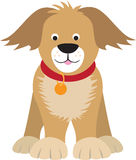 Cartoon dog illustration Stock Photos