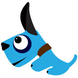 Cartoon dog. Illustration of a blue cartoon dog on a white background