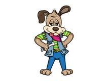Cartoon dog illustration Stock Photography