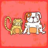 Cartoon dog illustration  , vector icon Stock Image