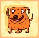 Cartoon dog illustration  , vector icon Royalty Free Stock Image