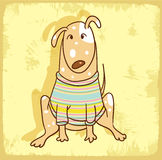 Cartoon dog illustration  , vector icon Royalty Free Stock Photos