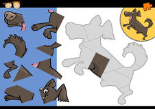 Cartoon dog jigsaw puzzle game Stock Photography