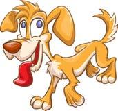 Cartoon dog jumping Stock Photography