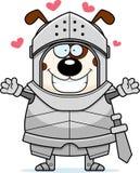 Cartoon Dog Knight Hug. A cartoon illustration of a dog knight ready to give a hug Stock Photography