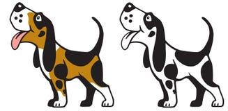 Cartoon dog logo side view Royalty Free Stock Image