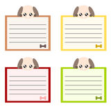 Cartoon dog memo illstration Stock Image