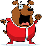 Cartoon Dog in Pajamas. A cartoon illustration of a dog in pajamas Royalty Free Stock Photo
