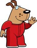 Cartoon Dog Pajamas. A cartoon illustration of a dog wearing pajamas Royalty Free Stock Photo