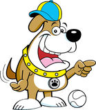 Cartoon dog pointing. Stock Images