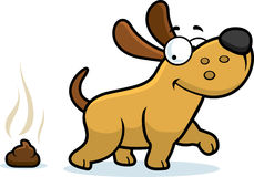 Cartoon Dog Poop. A cartoon illustration of a dog pooping Stock Images