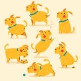Cartoon Dog poses. Vector illustration. Isolaed Royalty Free Stock Photo