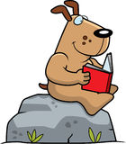 Cartoon Dog Reading Royalty Free Stock Photos