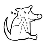 Cartoon dog scratching Royalty Free Stock Image