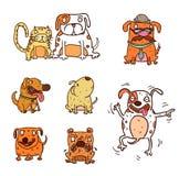 Cartoon dog set Royalty Free Stock Photos