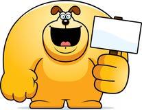 Cartoon Dog Sign Royalty Free Stock Photography