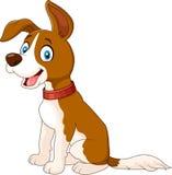 Cartoon dog sitting isolated on white background Royalty Free Stock Images